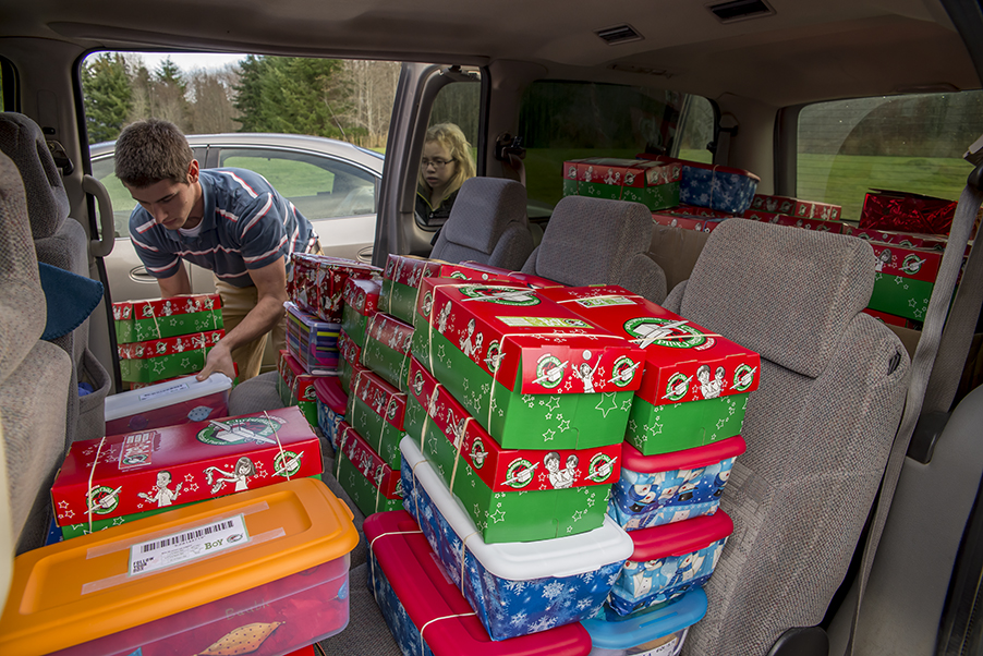 2014 Christmas Boxes from JBC for Samaritan's Purse to be delivered to kids in 3rd World countries around the globe.